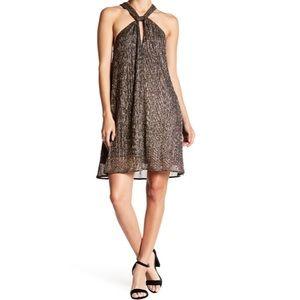 ASTR the Label Priscilla metallic dress small